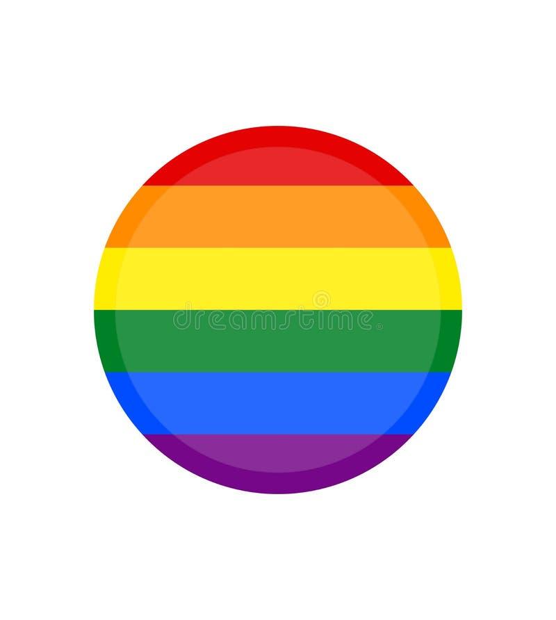 Imagen del vector de una bandera de LGBTQ+ Símbolo del orgullo La bandera del arco iris, sabido lo más extensamente posible por t stock de ilustración