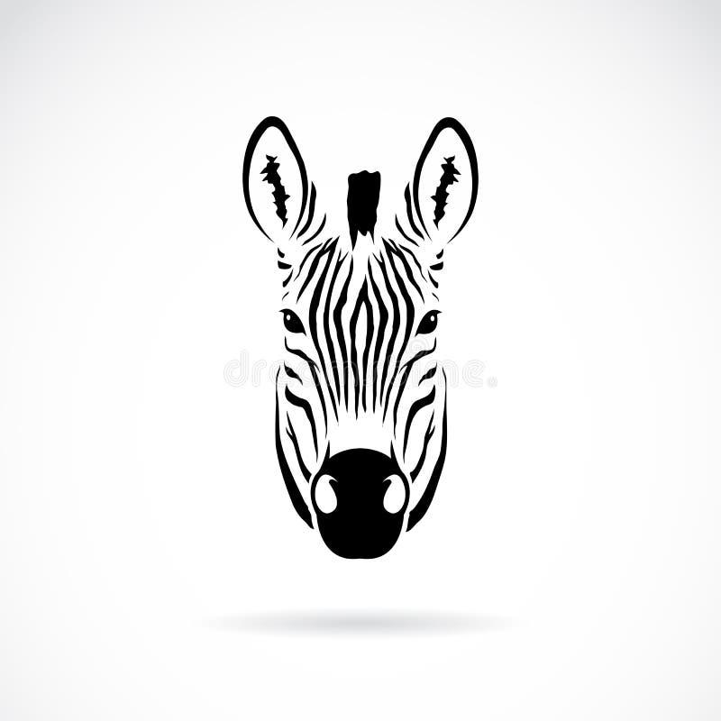 Imagen del vector de una cabeza de la cebra ilustración del vector