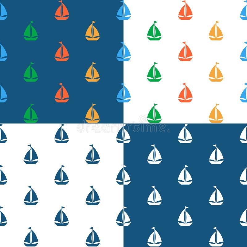 Imagen del vector del modelo inconsútil del velero libre illustration