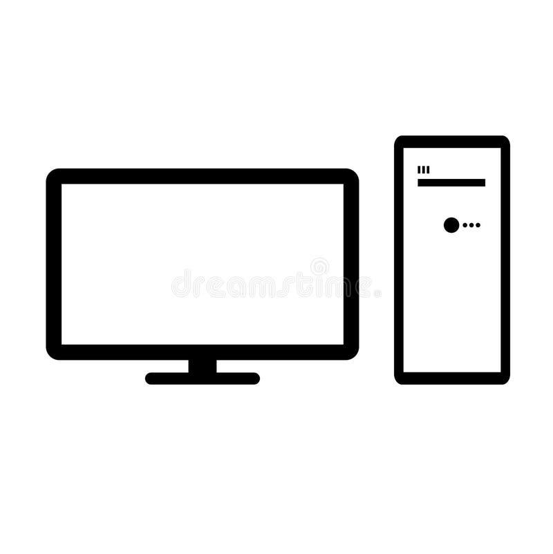 Imagen del vector del equipo de escritorio y del monitor Icono superior del ordenador de la calidad libre illustration