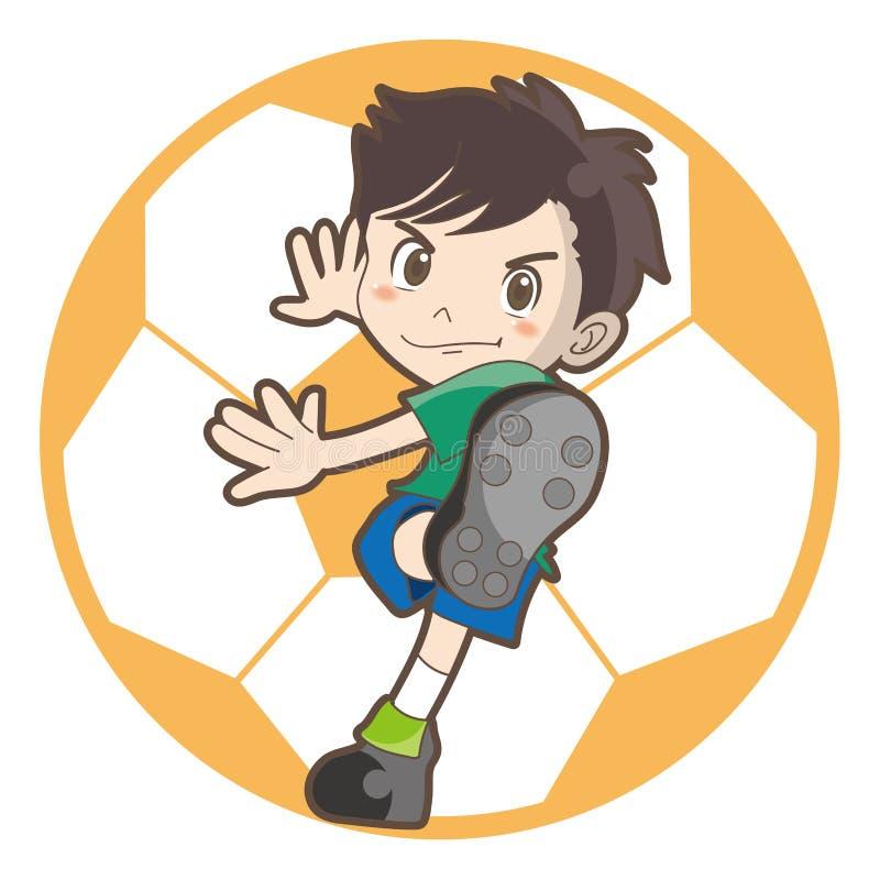 Imagen del vector del fútbol de los niños ilustración del vector