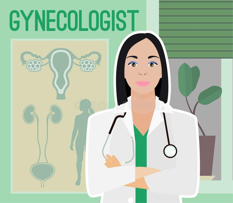 Imagen del vector del ginecólogo libre illustration
