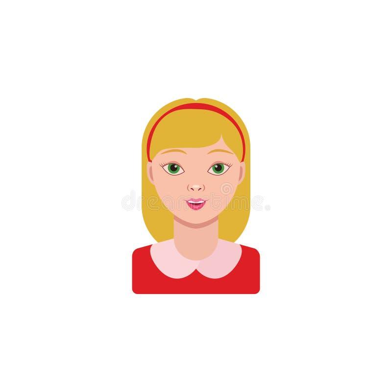 Imagen del vector Muchacha, colegiala Retrato de una pequeña muchacha stock de ilustración