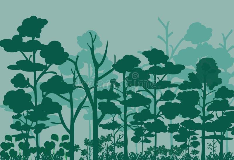 Imagen del vector del paisaje del bosque ilustración del vector