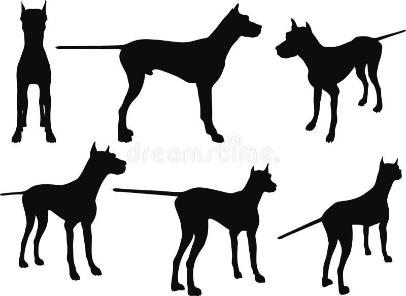 Imagen del vector - persiga la silueta en actitud inmóvil en el fondo blanco stock de ilustración