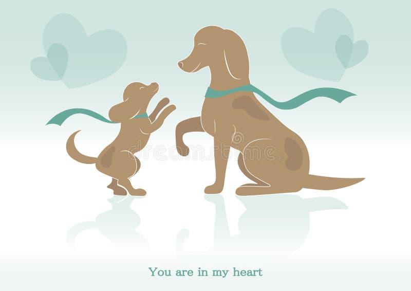 Imagen del vector sobre el amor de madre para el niño ilustración del vector