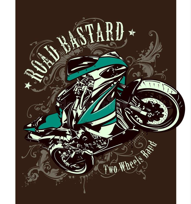 Imagen del vintage de la moto del deporte libre illustration