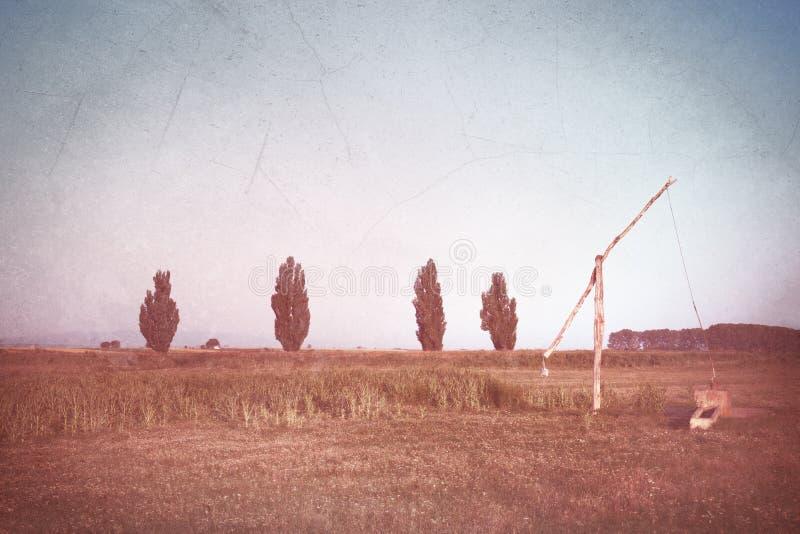 Imagen del vintage - paisaje rural 1 foto de archivo libre de regalías
