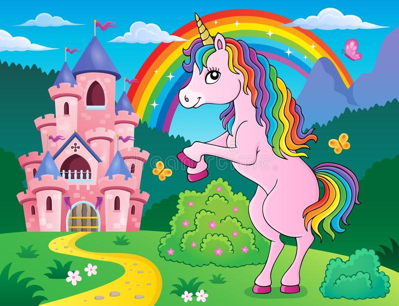 Imagen derecha 3 del tema del unicornio libre illustration