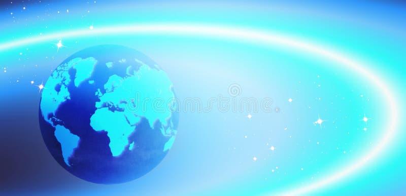 Imagen digital azul del globo de la tierra stock de ilustración