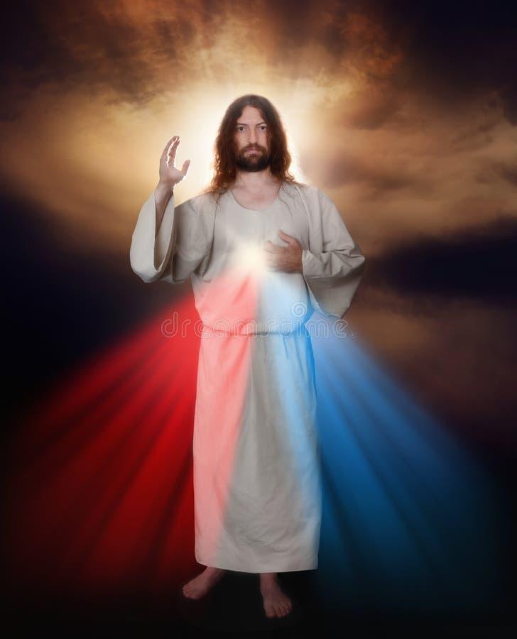 Imagen divina de la misericordia imagenes de archivo