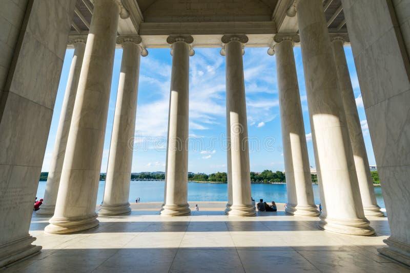 Imagen documental de Jefferson Memorial en el distrito de Colum foto de archivo