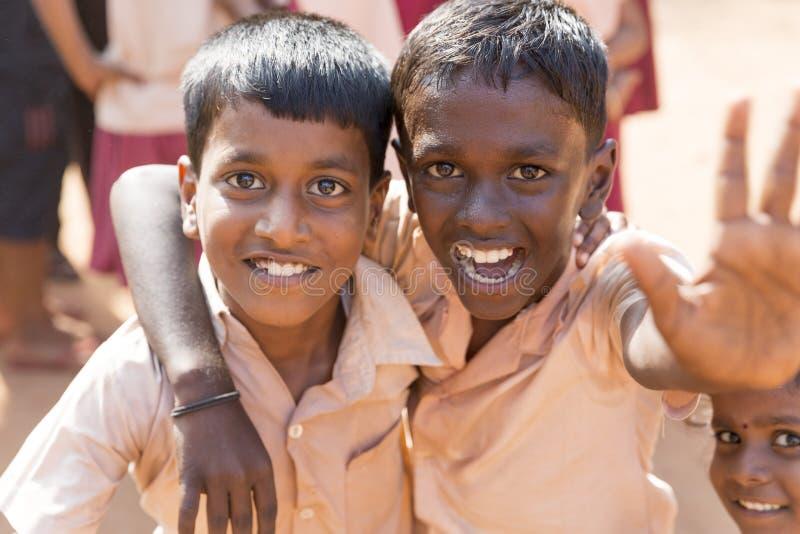 Imagen documental editorial, retratos de los estudiantes de la escuela fotos de archivo libres de regalías