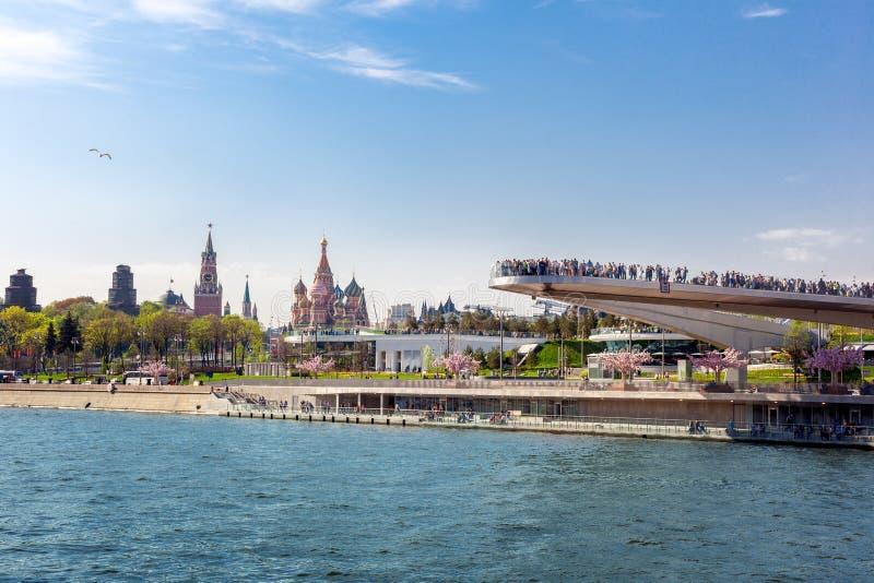Imagen editorial, mayo de 2018, Moscú Rusia, vista del Kremlin con referencia a imágenes de archivo libres de regalías