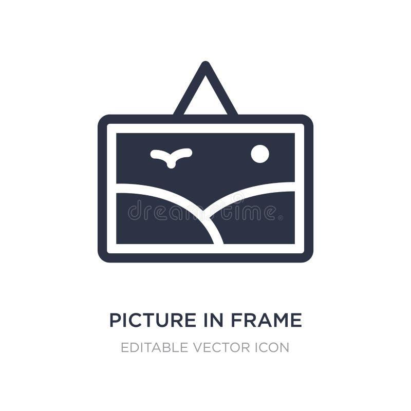 imagen en icono del marco en el fondo blanco Ejemplo simple del elemento del concepto del arte stock de ilustración