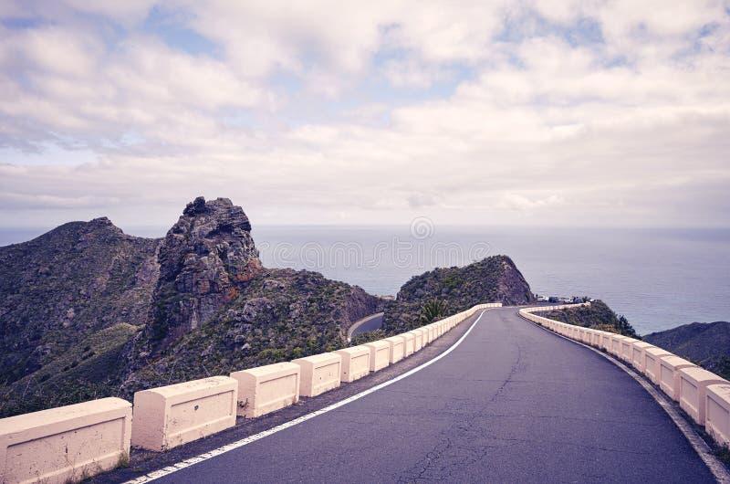 Imagen entonada vintage de un camino esc?nico fotografía de archivo libre de regalías