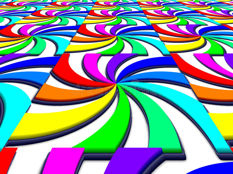 Imagen espectral de la perspectiva del remolino del arco iris ilustración del vector