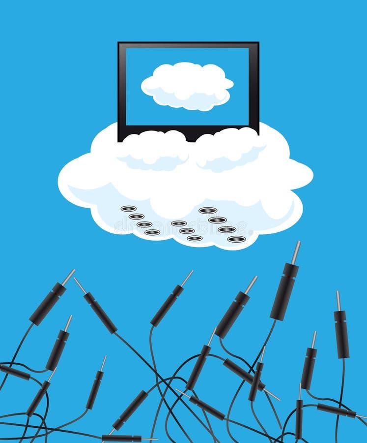 Tecnologías nubladas libre illustration