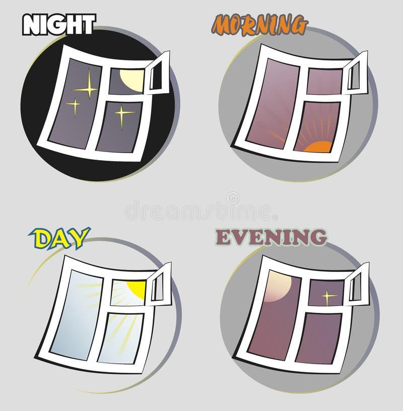 Imagen estilizada de una hora cuatro libre illustration