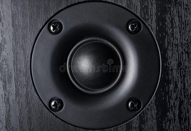 Imagen frontal del altavoz de audio de alta frecuencia foto de archivo libre de regalías