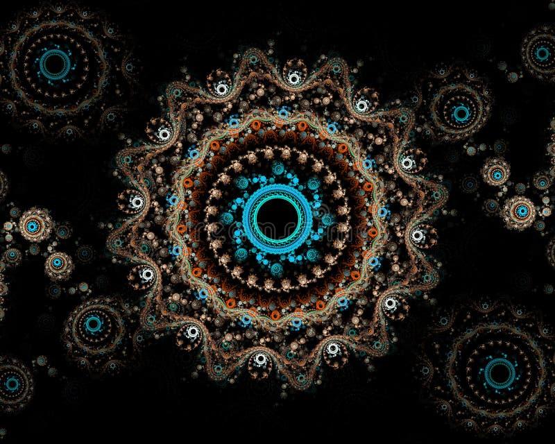 Imagen generada Digital Fractal colorido, estampado de plores elegante, delicado fotografía de archivo