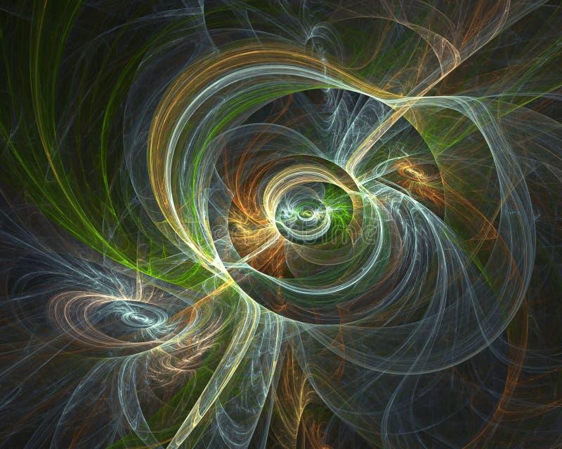 Imagen generada por ordenador del fractal con la abstracción del espacio fotografía de archivo