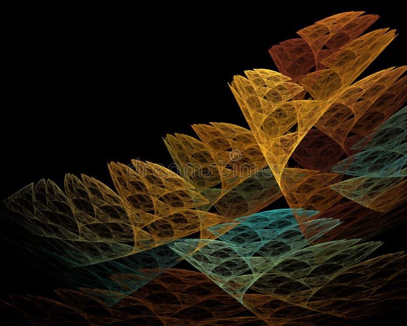 Imagen generada por ordenador del fractal con un aire de la abstracción foto de archivo libre de regalías