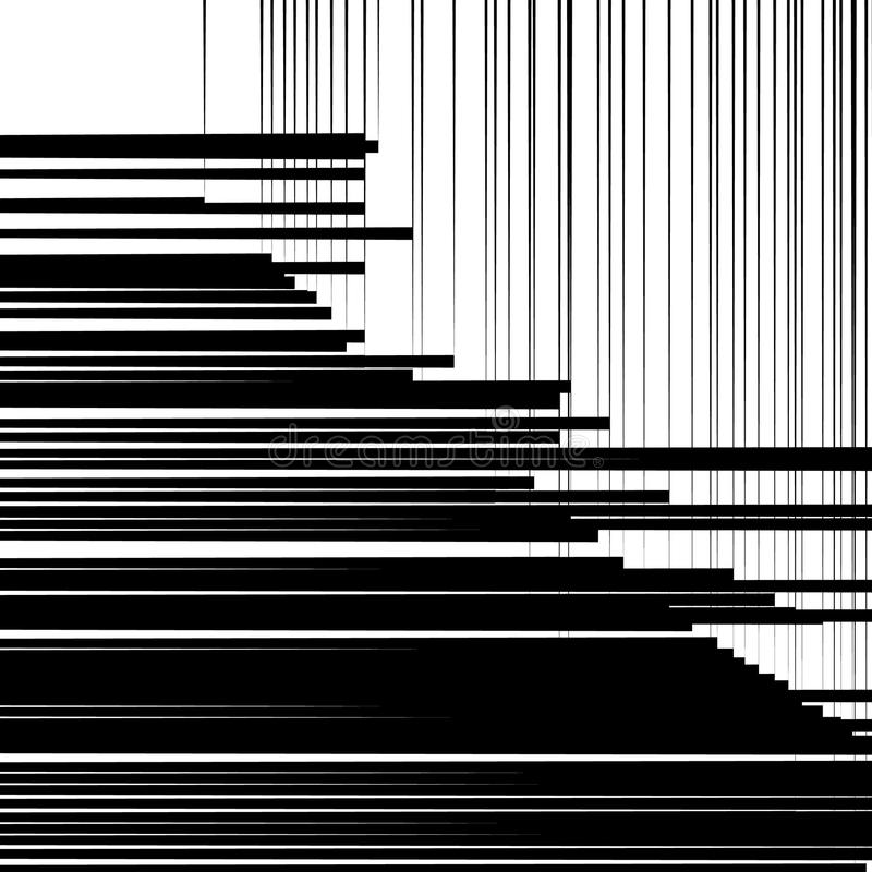 Imagen geométrica abstracta del arte Backgr monocromático, blanco y negro stock de ilustración