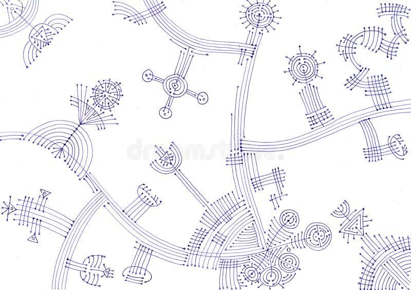 Imagen gráfica abstracta Fondo futurista, moderno, geométrico ilustración del vector