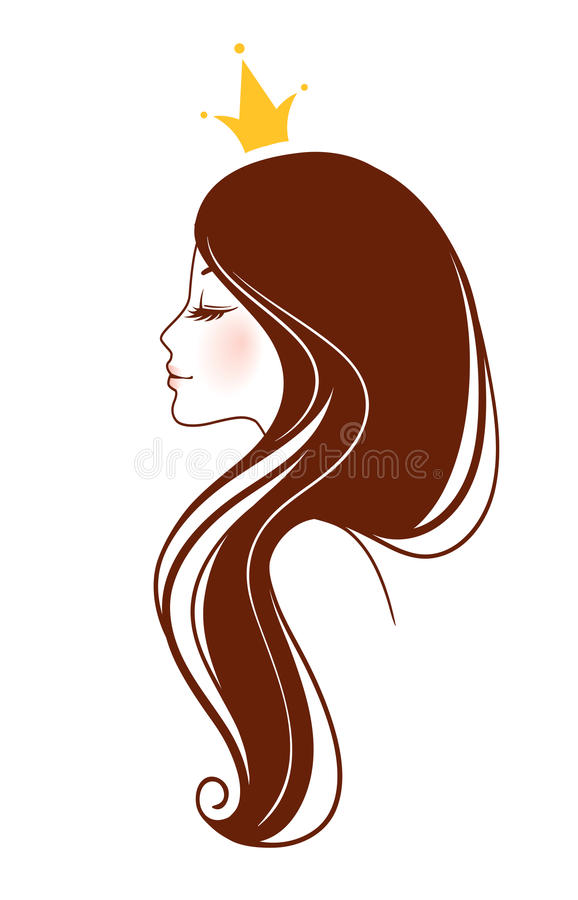 Imagen hermosa de la mujer stock de ilustración