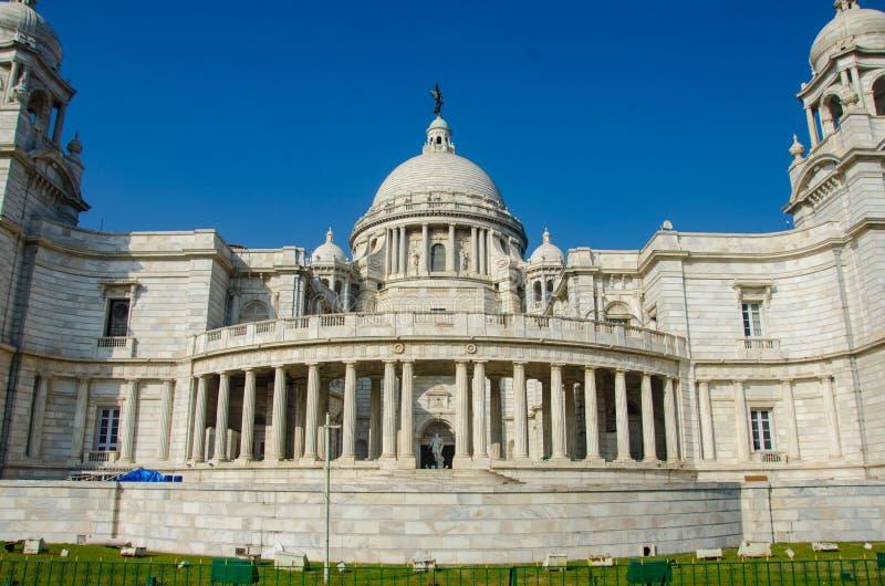 Imagen hermosa de Victoria Memorial, Kolkata, Calcutta, Bengala Occidental, la India Un monumento histórico del arquitecto indio fotografía de archivo libre de regalías