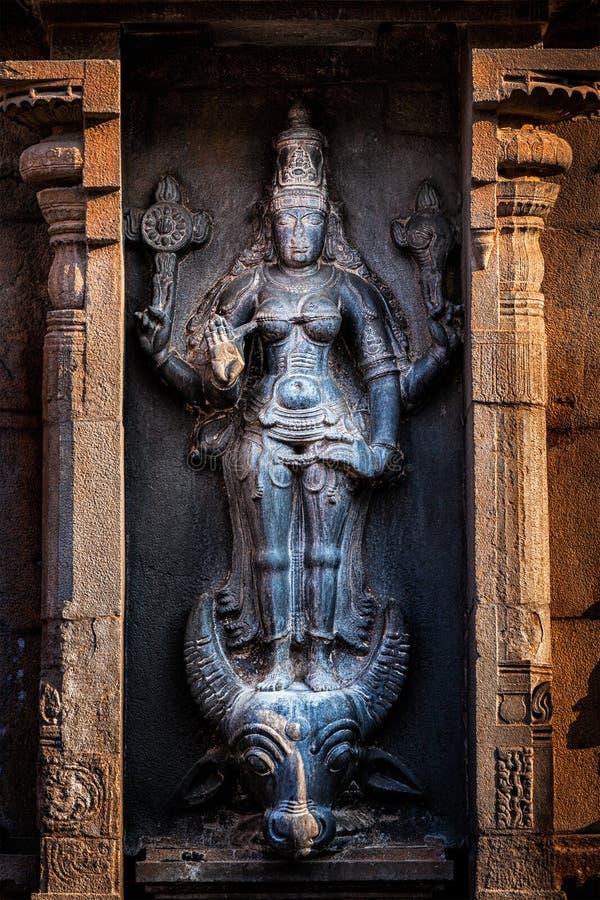 Imagen hindú de Durga Mahisaurmardini de la diosa fotos de archivo libres de regalías