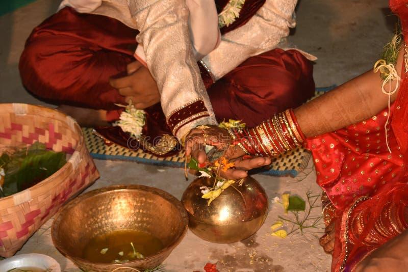 Imagen india de la ceremonia de matrimonio de foto de archivo libre de regalías