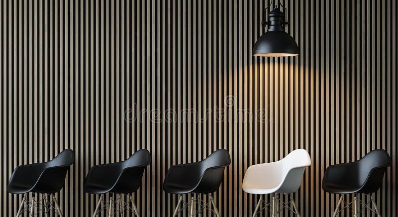 Imagen interior de la representación 3d de la sala de estar contemporánea moderna libre illustration