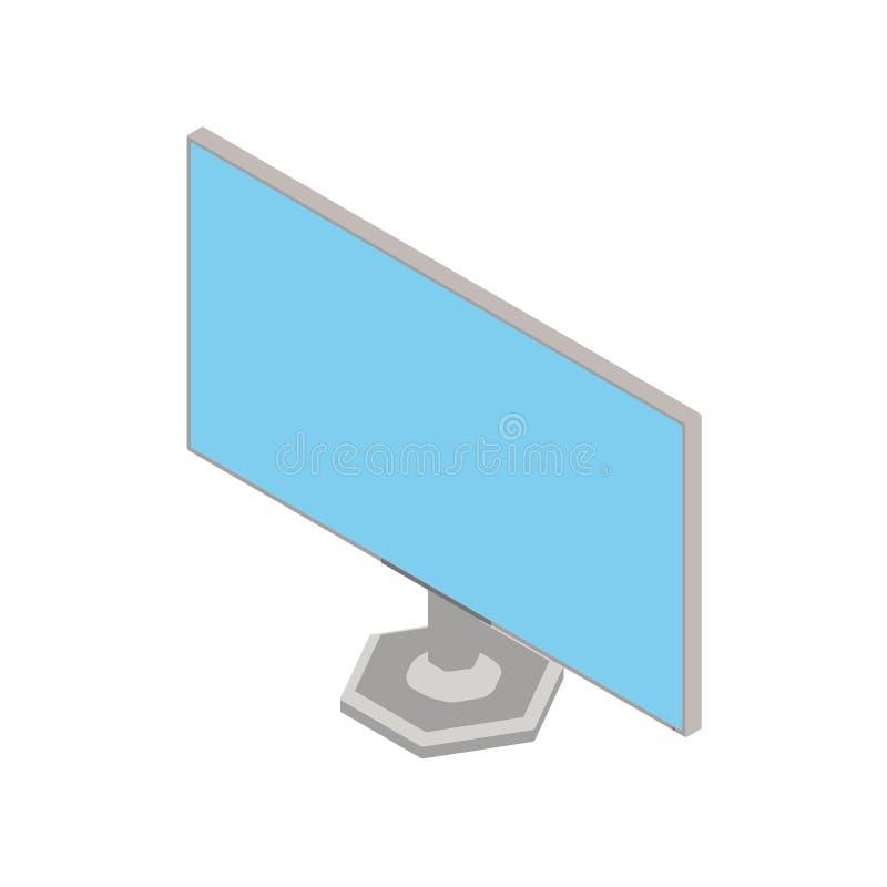 Imagen isométrica de un monitor ilustración del vector