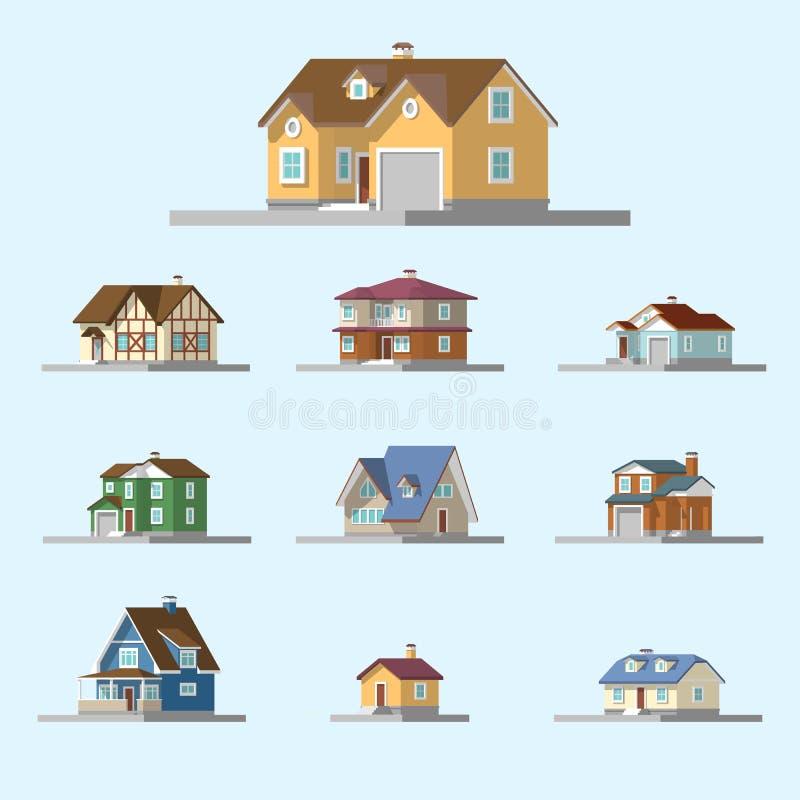 Imagen isométrica de una casa privada libre illustration