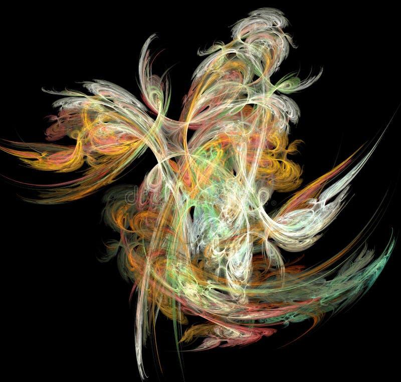 Imagen iterativa originada en ordenador artificial abstracta del arte del fractal de la llama ilustración del vector