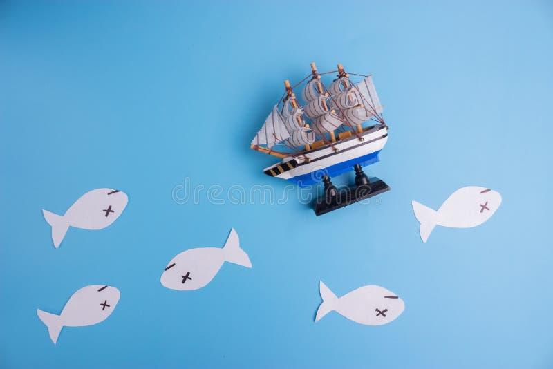 imagen muerta del concepto de los pescados fotografía de archivo