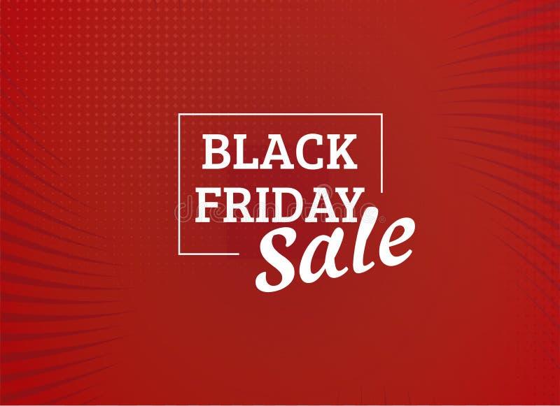 Imagen negra del vector del diseño de la oferta del descuento especial de la venta de viernes libre illustration