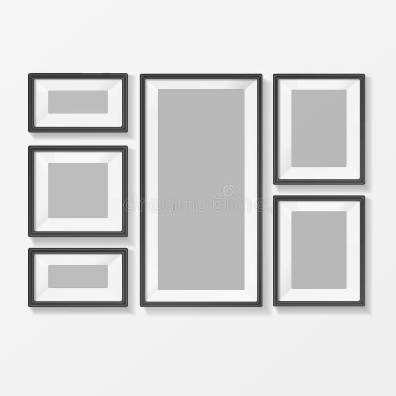 Imagen o marco en blanco de Foto para el interior Vector stock de ilustración