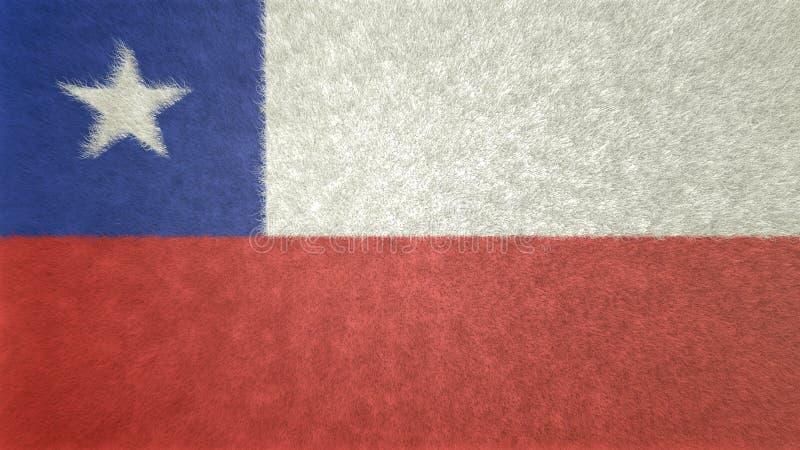 Imagen original 3D de la bandera de Chile stock de ilustración
