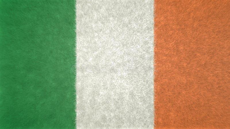 Imagen original 3D de la bandera de Irlanda ilustración del vector