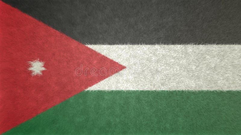 Imagen original 3D de la bandera de Jordania ilustración del vector