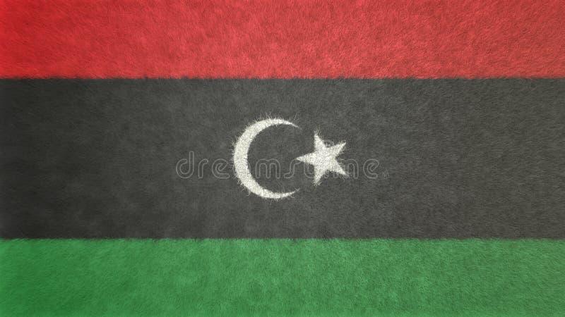 Imagen original 3D de la bandera de Libia ilustración del vector