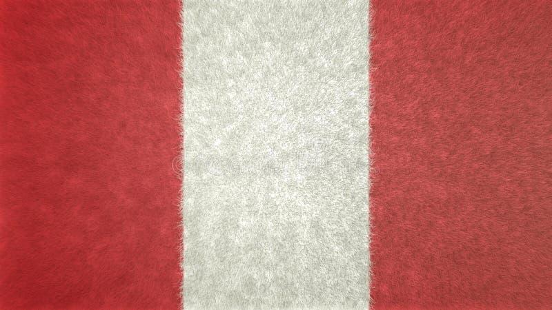 Imagen original de la bandera de Perú 3D stock de ilustración