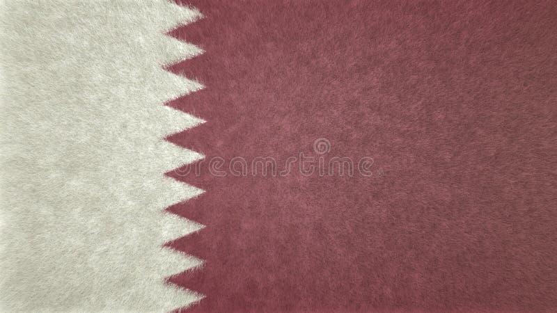 Imagen original de la bandera de Qatar 3D ilustración del vector