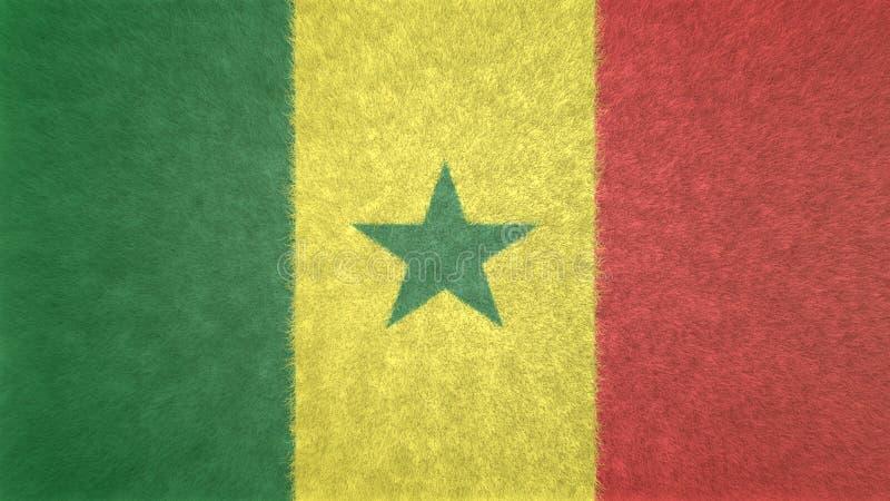 Imagen original de la bandera de Senegal 3D libre illustration
