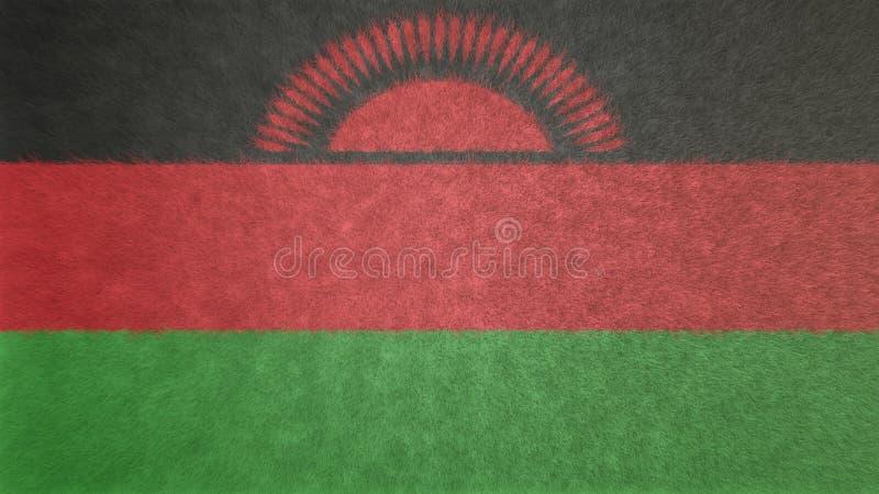 Imagen original de la textura 3D de la bandera de Malawi ilustración del vector