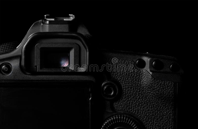 Imagen oscura de la cámara de DSLR foto de archivo