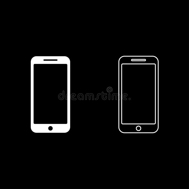 Imagen plana del estilo del color del sistema del icono de Smartphone del ejemplo blanco del vector libre illustration